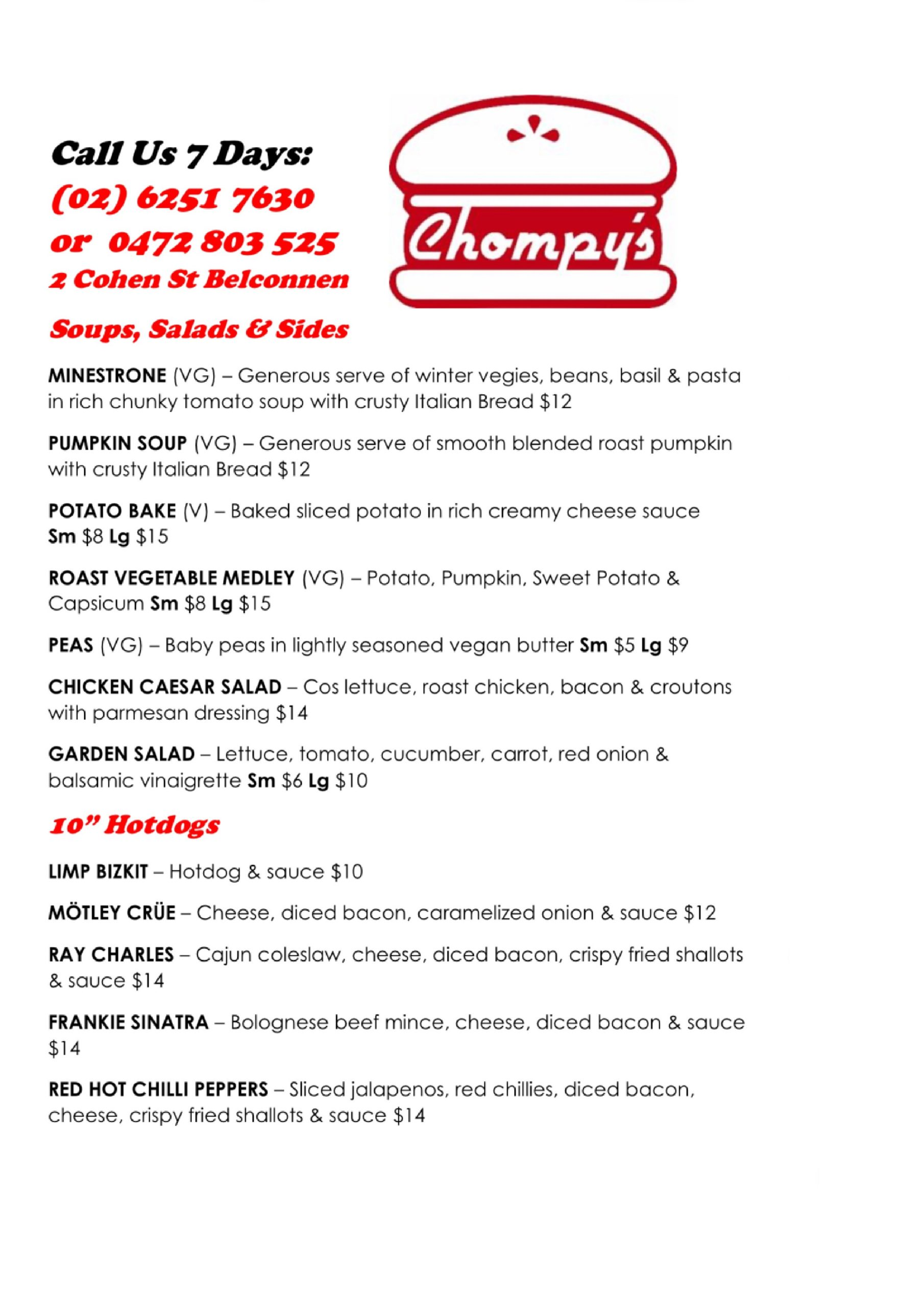 Chompy's Menu image 2